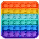 Push N Pop Square Rainbow