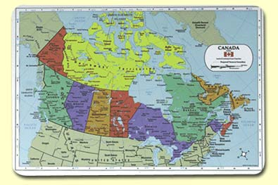 Pics Of Canada Map.Painless Learning Map Of Canada Placemat The Granville Island Toy