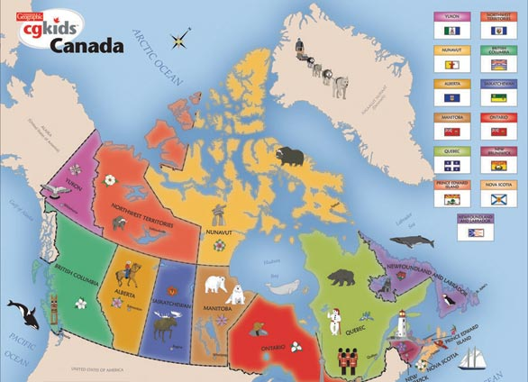 CG Map Of Canada Pc Puzzle The Granville Island Toy Company - Canada map puzzles
