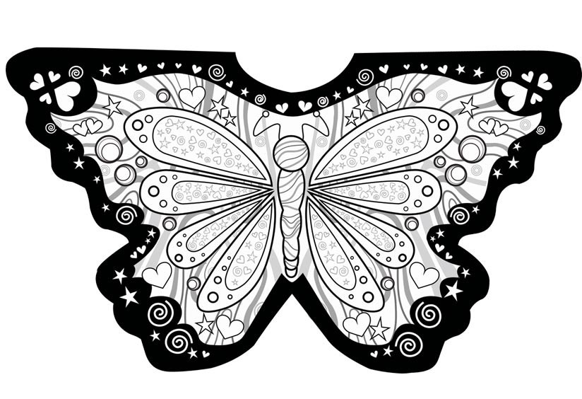 Free Worksheets Butterfly Pictures To Colour Math