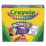 64 Crayons w Sharpener