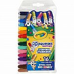 16 Washable Pip Squeaks Markers
