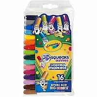 Crayola 16 Washable Pip Squeaks Markers