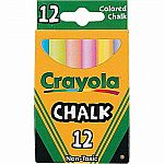 Crayola Colourex Chalk 12pc