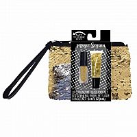 Sequin Wristlet Pouch Set - Gold