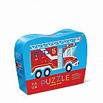 12pc Mini Shaped Fire Truck Puzzle