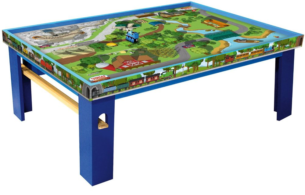 Thomas friends wood table with playboard the granville for 10 in 1 game table toys r us