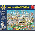 Jan Van Haasteren Tall Ship Chaos 1000pc Puzzle