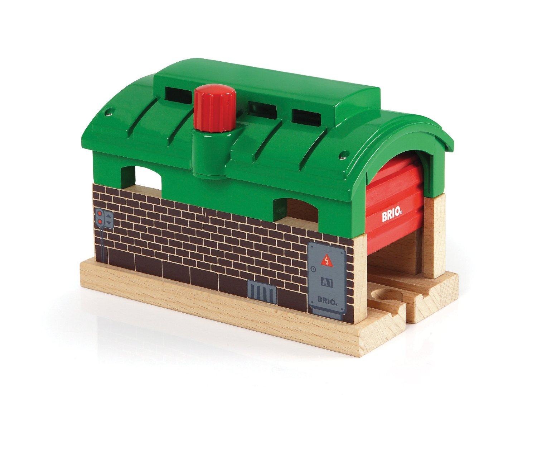 brio train garage the granville island toy company. Black Bedroom Furniture Sets. Home Design Ideas