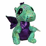 Ty Cinder Green Dragon Beanie Boo Medium