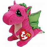 Ty Darla Pink Dragon Beanie Boo Small