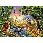Evening At The Waterhole 300pc Puzzle